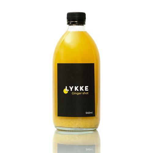 Sklenená fĺaša Lykke zázvorový nápoj 540ml